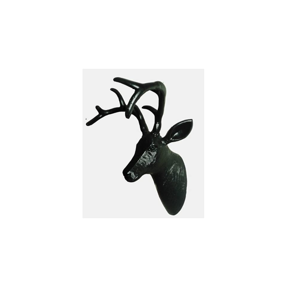 Rangoon the Black Deer   Stag Head   Wall Mount Trophy Gift