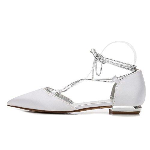 pie Talones Boda Vendajes Ivory 22 Bajos de de high Fiesta Dedos del Satén Cerrados Las 5047 Fiesta Elegant de Mujeres Zapatos shoes pqwvIU4