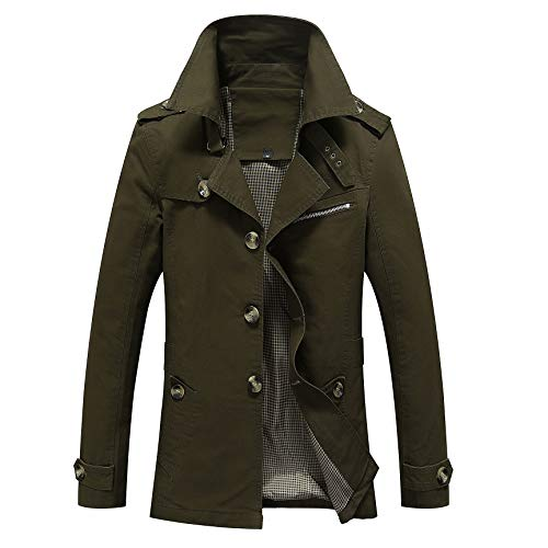 Casual Men's Army Tops Jacket Coat Green Outerwear 4wRaqT