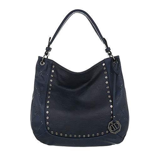 Foncé Pour Porter Sac Ital Femme À design L'épaule Bleu Pw4a8xR1
