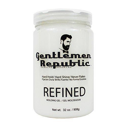 Gentlemen Republic 32oz Grooming Hard Hold & Shine Refined Mold Hair Styling Gel