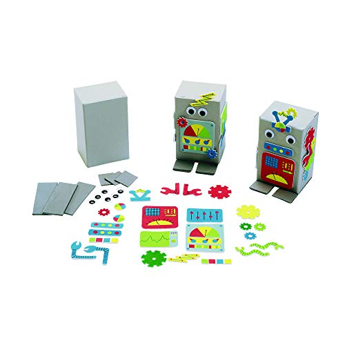Colorations ROBOKIT Create Your Own Robot Kit for 12 (Pack of 12) ()
