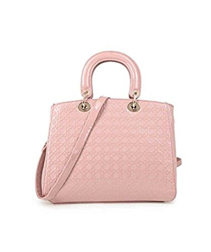 LeahWard College Skin Shoulder Tote TOTE Large Shopping Holiday Snake School PINK Bag For RwxIx8