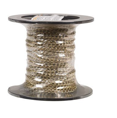 Campbell 0712017 Hobby and Craft Twist Chain, Brass Plated, #200 Trade, 0.079'' Diameter, 12 lbs Load Capacity, 49 Feet Mini Reel by Apex Tool Group (Image #1)