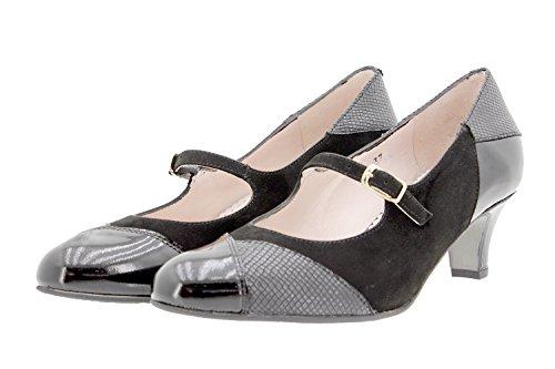 Chaussure Confort Confortables Jean Amples Mary Cuir Femme 9227 En Noir Piesanto r45wq8rnST