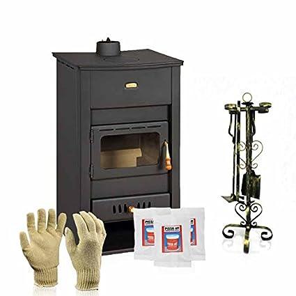 Caldera de leña estufa Prity, Modelo K2 CP W13, salida de calor 18 kW