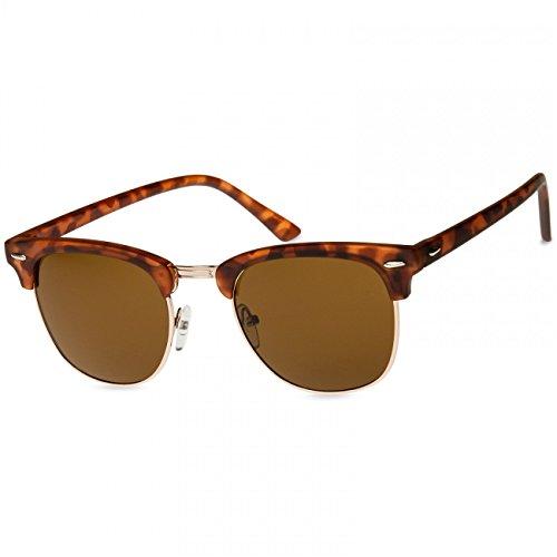 Unisex Gafas de Cuerno SG040 Marrón Estilo Caspar de Tintado Sol Óptica Retro XIw7x5XqZ