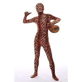 - 41x9fmMqBDL - Halloween Cosplay Full Bodysuit Animal Pretend Play Tiger Dress Up Zentai Costume