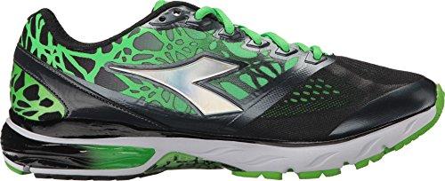 Diadora Mythos Blushield 101171480-c6394 Chaussures De Course Pour Homme Vert-noir