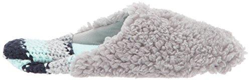 Knit Sweater Heel Pile Sleet Women's w Dearfoams Scuff qHngvAPOvw