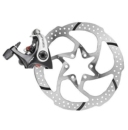 (TRP SPYRE Flat Mount Road Alloy Mechancial Disc Brake Caliper Rotor Rear 140mm )