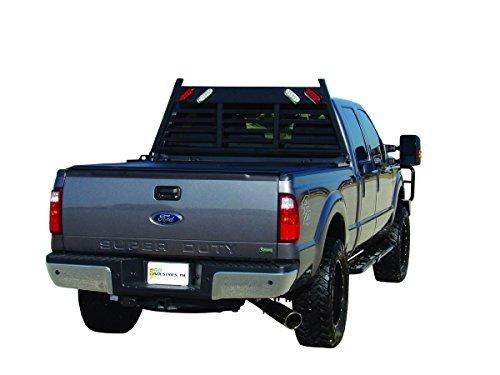 Go Industries 623B Racks & Cab Protectors(07-13 Silverado/Sierra/04-13 F150 (No Heritage)/2013 Ram 1500 Blk Heavy Duty Lighted Headache Rack)