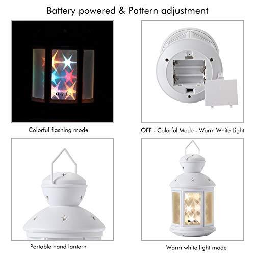 Decorative Night Light Lamp With Warm//RGB Mode Twinkle 3D Portable LED Lantern