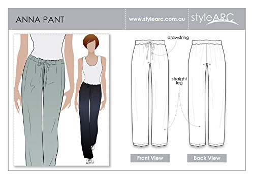 Style Arc Sewing Pattern - Anna Pant - Sizes 4-16 - Click for Other Sizes Available