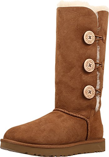 - UGG Women's Bailey Button Triplet II Winter Boot, Chestnut, 9 B US