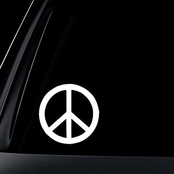 Peace sign car decal sticker