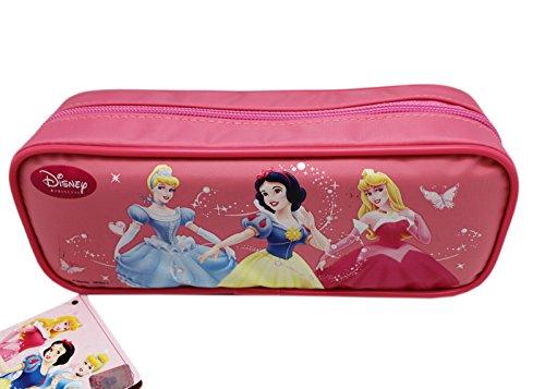 - Bubblegum Pink Disney Princess Zippered Pencil Pouch Cosmetic Bag