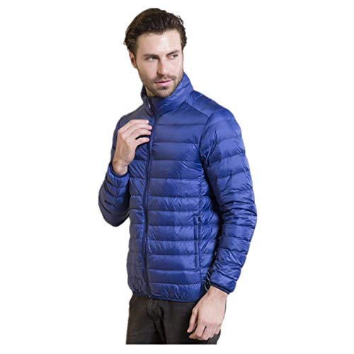 Down Clásico Coat Sleeve Jacket Men's Winter Quilted Long Boy Blue Fashion Thickening Cotton Casual Outerwear Jacket Padded nxIxv8T