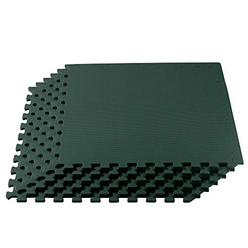 We Sell Mats 1/2-inch Multi-Purpose, Hunter Green, 120 Sq Ft (30 Tiles) (120 Sq Ft Martial Arts)