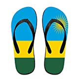 Flag Of Rwanda Funny Flip Flops For Children Adults Men And Women Beach Sandals Pool Party Slippers