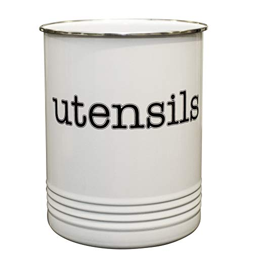 Large White Utensil Holder - Kitchen Utensil Crock- to Organize Your Kitchen Gadgets and Cooking Utensils