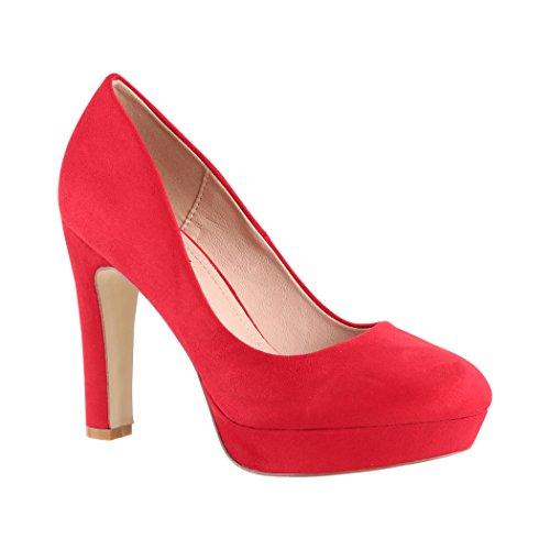 Fête Femmes Hauts Chaussures Elara Vernies Rot Talons Escarpins Lyon Plateau Metallic HwnxP7