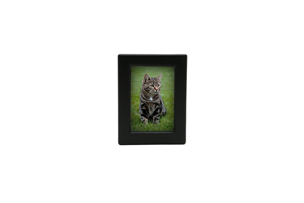 Near & Dear Pet Memorials MDF Photo Urn, 25 Cubic Inch, Black