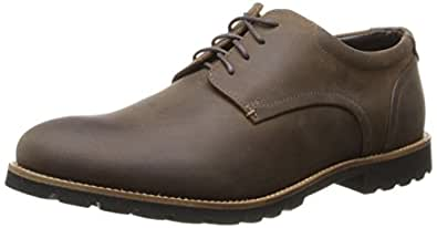 ROCKPORT Men's Sharp & Ready Colben Brown Oiled Leather 9.5 W (EE)-9.5 W
