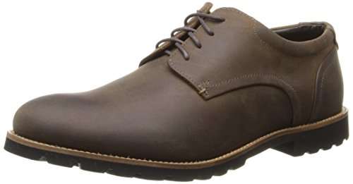 (Rockport Men's Sharp & Ready Colben Brown Oiled Leather 12 W (EE)-12 W)