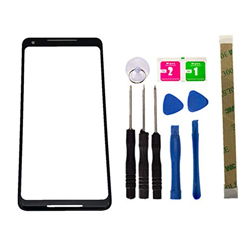 Replacement Screen Repair Front Outer Top Glass Lens Cover for Google Pixel 2 XL 6.0 inch Mobile Phone Parts and Adhesive Tools (No LCD and Touch Digitizer)
