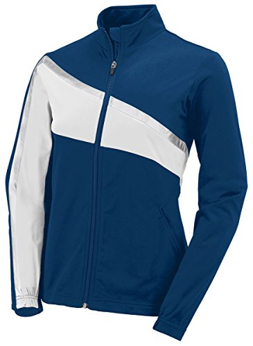 Girls Full Button Jersey (Augusta Activewear Women's Full Button Jersey, Royal/White, Large)