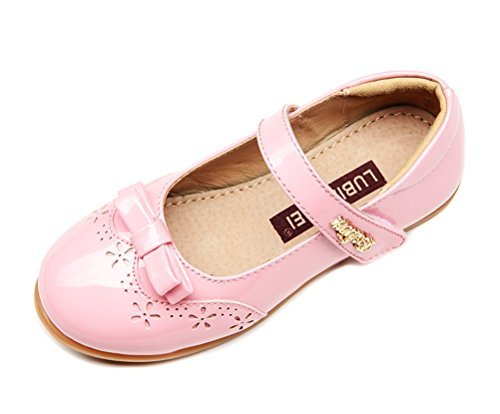 Always Pretty Little Girls Ballet Ballerina Flats Princess Shoes Flower Girl Dress Shoes (Toddler/Little Kid/Big Kid) Pink 11 M US Little Kid