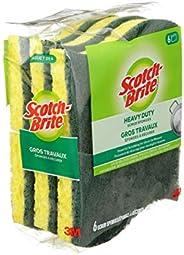 Scotch-Brite Scrub Sponge, 6 Pack, Heavy Duty, Garage/Outdoor/Kitchen Scrubber