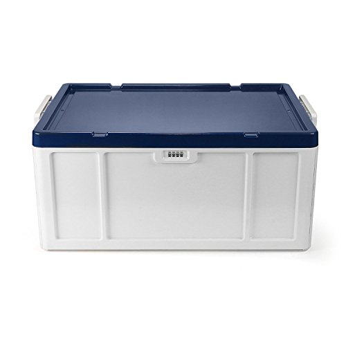 EVERTOP Extra Large Deck Box for Home, Office, Car, White with Code Lock (New A-Blue) by EVERTOP