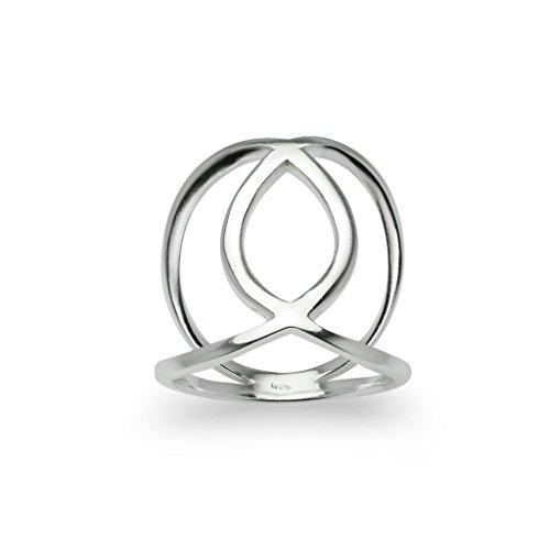925 Sterling Silver Spinner Ring - 7