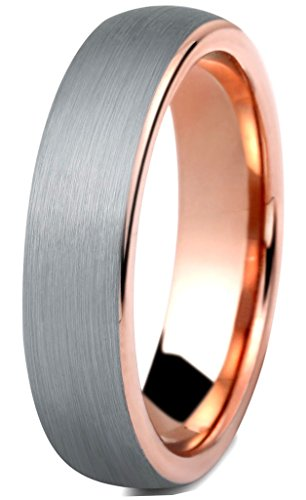 Brushed 5 Band Mm - Tungary Women Tungsten Rings for Men Wedding Engagement Band Promise Brushed 5mm Size 9.5