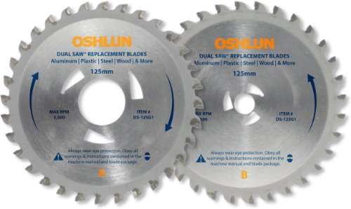 (Oshlun DS-125G1 Replacement 2 Blade Set for the Original Omni Dual Saw with Triangular Driver)
