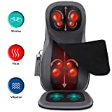 Naipo Back Massager Shiatsu Massage Seat Cushion with Heat Rolling Kneading Vibration