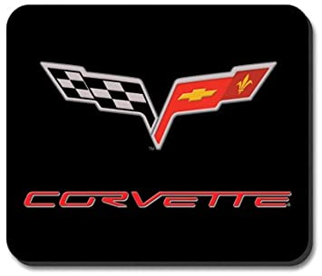 amazon com corvette c6 logo mouse pad by art plates office rh amazon com  corvette c6 logo vector