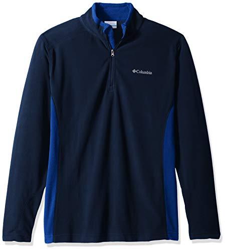 Collegiate Sweater - Columbia Men's Klamath Range II Half Zip Sweater, -collegiate navy, azul, M