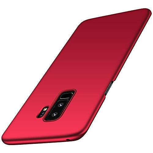Anccer Samsung Galaxy S9 Plus Case, [Ultra Thin ][Anti Drop][Anti Shock][Heavy Duty Protection] Slim Hard Full Body Phone Cover for Galaxy S9 Plus (Not for Galaxy S9) (Red)