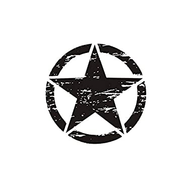 Ronshin 50cm Big Stickers On Cars Army Star Distressed Decal
