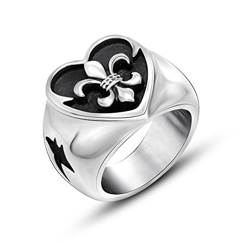 Scout Flower Ring - scout flower ring men steel cross rings fashion rings non-mainstream punk style jewelry