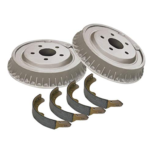 Auto DN Rear Brake Drum and Premium Shoe 3PCS for 1997-2002 Mitsubishi Mirage