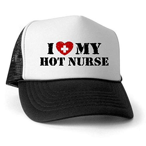 LUDEM I Love My Hot Nurse Trucker Hat Trucker Hat Classic Baseball Hat Unique Trucker Cap