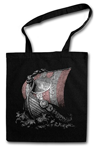 VIKING SHIP I HIPSTER BAG �?Casco trincado långskip Vikings drakkar escandinavos vikingos Bateau Longship Norsemen
