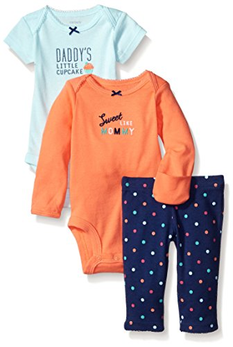 Carter's Baby Girls' 3 Piece Take Me Away Set (Baby) - Cupcake - Newborn (Newborn Cupcake Carters Girl)