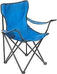 Cadeira Dobrável Praia Camping Pesca Bolsa Porta Copos