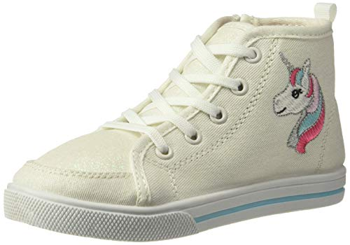 carter's Girls' Ginger Novelty High-Top Sneaker, White, 10 M US Toddler
