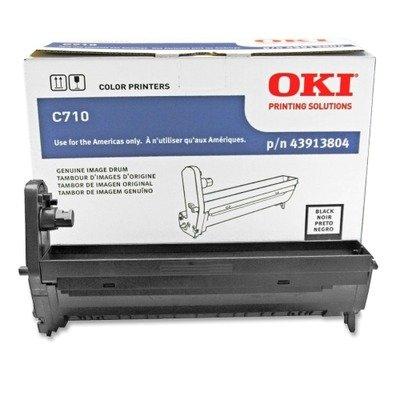 Series Black Image Drum - Oki 43913804 Black Image Drum for C710 Series Printers